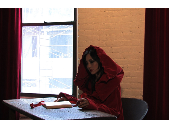 "Production still from ""Holly Holy"" video, 2008 by Heather Bennett from ""The Empire Trilogy""."